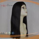 De Remy del pelo peluca negra hecha a máquina de calidad superior de la caída de la venda del color del pelo de la Virgen por completo