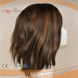 A máquina fêz a peruca misturada Brown dourada européia do cabelo