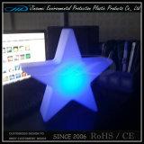 PE de Plastic Kleine LEIDENE van de Verandering van de Kleur Decoratieve Lamp van de Ster
