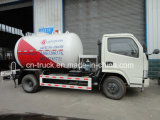 Dongfeng 4X2 5.5cbm 가스 탱크 2.3t LPG 유조 트럭