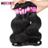 Venda por grosso de onda do corpo virgem não transformados pacotes de cabelo peruana