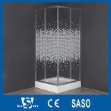 Quart de cercle en verre acide 90X90X180cm de pièces jointes de douche de la Chine
