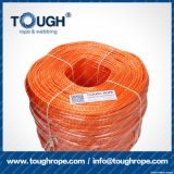 Fibra 100% resistente de Uhwmpe da corda da corda sintética do guincho Orange12.5mmx30m4X4