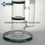 Percoladores de 3 capas 1 tubo de agua de cristal de Perc de la bóveda (AY025)