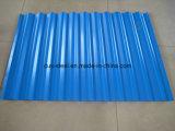 Revestimiento de techo de metal azul/rojo las hojas de techos de cartón ondulado