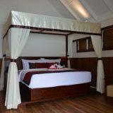 [تك] خشب أربعة ملصقة سرير منتجع 5 نجم فندق أثاث لازم