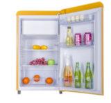 rétro réfrigérateur de la double porte 50/60Hz avec l'étagère jaune