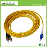 Kabel van het Koord van het Flard van de Vezel van DIN-FC Sm de Duplex 2.0mm 3.0mm Optische