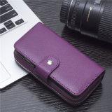 Sac en cuir PU Folio Flip Wallet avec bracelet et carte pour iPhone 7