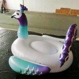 Павлина единорога фламингоа лебедя воды поплавки игрушки бассеина раздувного плавая