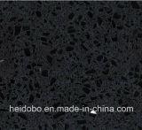 Parte superiore di vanità della stanza da bagno del dispersore di Undermount del quarzo nero di Notte singola