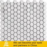 Hexagonaal Wit Ceramisch Mozaïek voor Decoratie en Zwembad