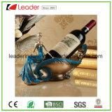 Porte-bouteilles de vin de Polyresin pour la décoration à la maison et les cadeaux promotionnels