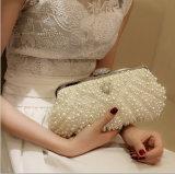 Elegant Pearl Crystal Wedding Evening Party Clutch Handbag (Dream-100074)