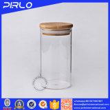 スパイスの食糧記憶のためのゴム製シールのタケ木のふたが付いているガラス瓶