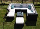 サンティアゴのデラックスな藤のコーナーのソファーセット