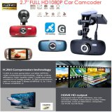 "2.7 "" LCD、完全なHD 1080P、H. 264の安いプロソニーImx322 CMOS車のダッシュのカメラDVR。 デジタルビデオDecorderの最もよい夜間視界、5.0mega車のカメラDVR-2712s"