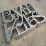 De niet Verlichte Geborstelde 3D Brieven van het Teken van de Brief van het Roestvrij staal in Roestvrij staal