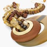 Mais recentes colares feitos à mão com colar de pedra natural para mulheres