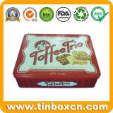 Rechteckiges Plätzchen-Zinn für das verpackende Nahrungsmittelzinn, Biskuit-Zinn-Kasten