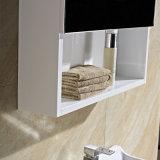 Voller weißer an der Wand befestigter Badezimmer-Schrank mit Spiegel-Schrank