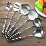 Cocinar el conjunto y el adminículo fijó los utensilios de la cocina del acero inoxidable