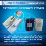 Borracha de silicone líquida transparente elevada para Protoytping