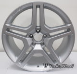 la rueda plateada 5X112 bordea 20 pulgadas para todo el coche