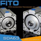Cilindro neumático del compacto de la serie Sda63/cilindro fino del aire de la pared/cilindro estándar