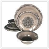 Diseño elegante De cerámica-Como conjunto occidental del servicio de mesa de la melamina
