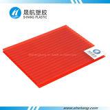 feuille creuse de toiture de carbonate de 2.1*6m poly avec la protection UV