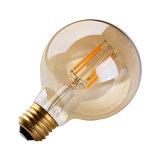 2W 4W 6W 8W G80 LED 필라멘트 전구 램프 호박색 덮개 100lm/W