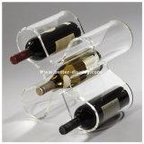 明確なアクリルのワイン・ボトルのホールダー