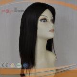 Peluca superior de seda de gama alta de la piel de Remy de la onda del pelo humano de la Virgen