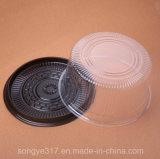 Коробка торта Brown 6 дюймов нижняя портативная прозрачная пластичная
