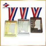 L'atletismo delle medaglie di bowling di ramatura dell'argento dell'oro del metallo mette in mostra le medaglie