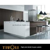 台所デザインMDFのメラミン食器棚の習慣(AP145)