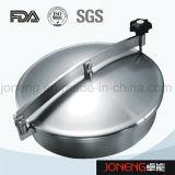 Tipo redondo higiênico tampa do aço inoxidável de câmara de visita (JN-ML2003)