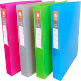 Hebel-buntes Büro-Datei-Faltblatt des Büro-Briefpapier-2D-Ring