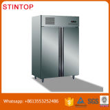 Restaurante comercial Aço inoxidável 4 ou 2 portas Vertical Geladeira Congelador / congelador industrial