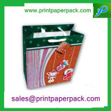 Retro famosa marca romântico com saco de papel de logotipo
