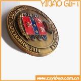 Cadeau de souvenir de médaillon d'en cuivre de placage de qualité (YB-HD-141)