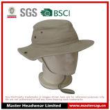 Chapéu de lavagem da pesca do chapéu da cubeta do vaqueiro com a cinta de queixo para adultos