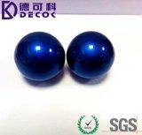 Boule décorative en acier inoxydable à boule creuse colorée bleue