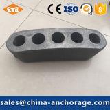 Китай верхним Flate поднапряженное тавром изогнутое Anchorage для стренги PC