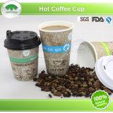 Горячая кофейная чашка с крышкой