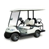 4人の乗客の電気ゴルフ車
