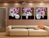 Die 3 Stück-druckte moderne Wand-Kunst die Farbanstrich-Blumen, die Raum-Dekor gestaltete Kunst-Abbildung angestrichen auf Segeltuch-Ausgangsdekoration Mc-233 anstreichen