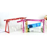 La bolsa de plástico colorida del PVC del nuevo diseño para el cosmético con el encierro de la cremallera