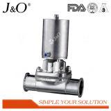 Válvula de diafragma sanitária do atuador do aço inoxidável